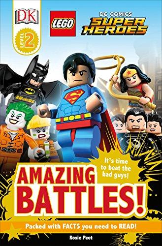 Dk Readers l2: Lego(R) dc Comics Super Heroes: Amazing Battles!  It's Time to Beat the bad Guys! (Lego dc Comics Super Heroes: Dk Readers) (libro en Inglés) - Dk - Dk Children