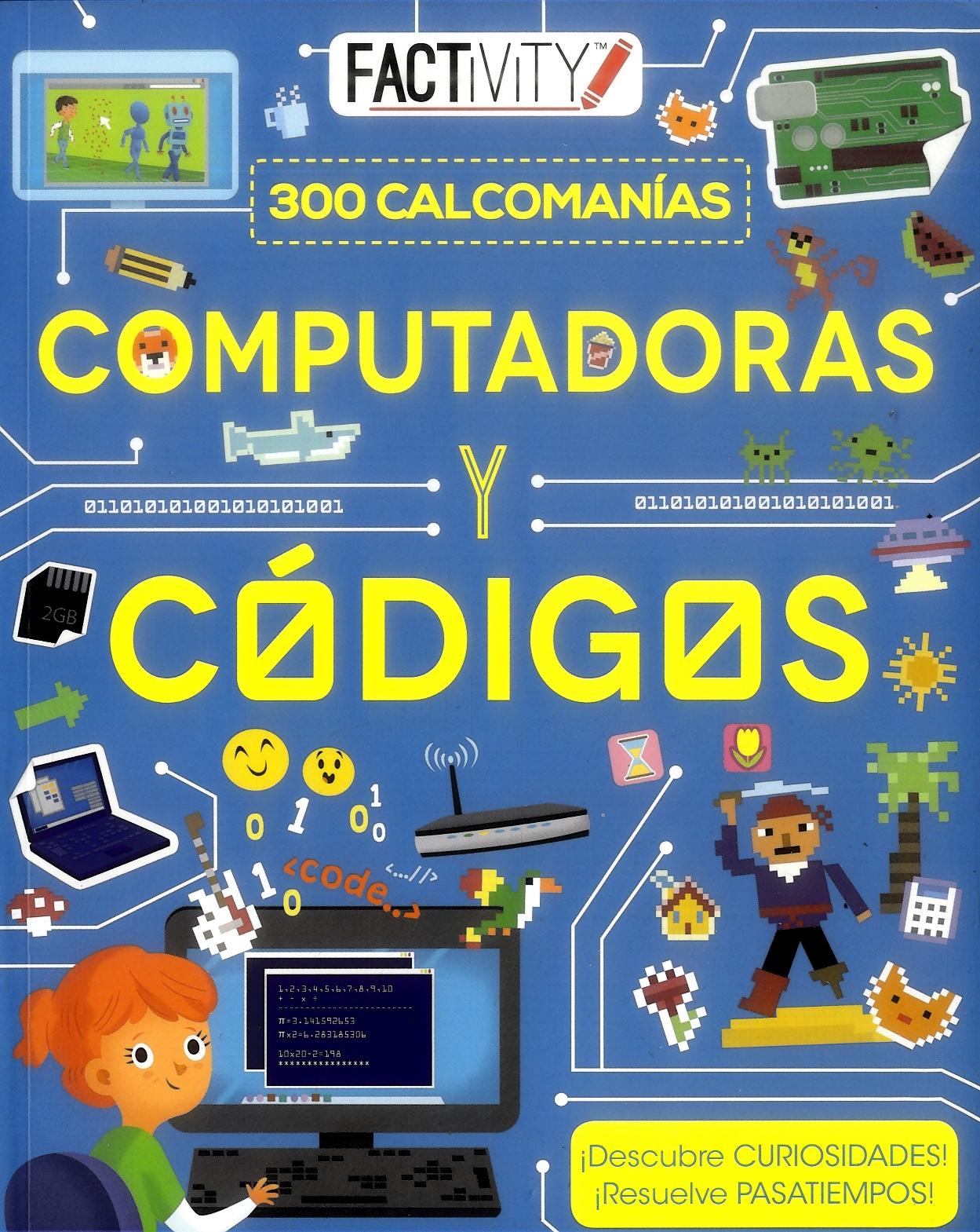 Computadoras y Códigos 300 Calcomanías - Varioss - Parragon